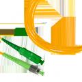 Патч-корд волоконно-оптический (шнур) SM 9/125 (OS2), FC/APC-FC/APC, simplex, LSZH, 1 м