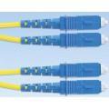 Волоконно-оптический патч-корд SC/APC-SC/APC, одномодовый 9/125, simplex, 0.9 мм, OFNR, 1 м
